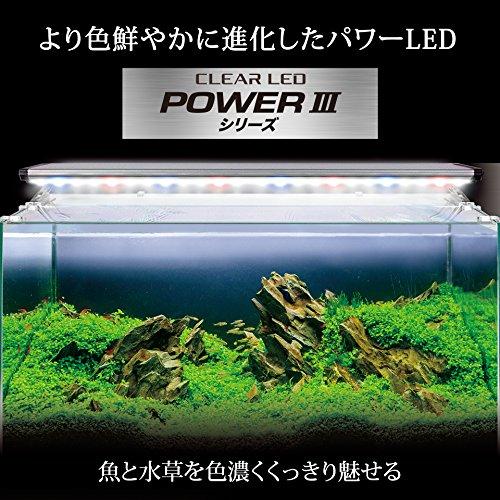 ジェックスクリアLEDパワーIII30030cm水槽用3色LED観賞魚飼育・水草育成用ライトリフト付