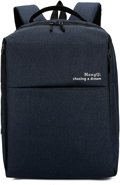 Functional Backpack, Large Capacity Student Bag, Couple Shoulder Pack,blueee