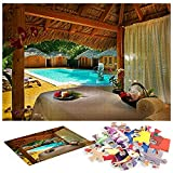 Paradise-Punta-Cana-Dominicana's Mejor Hotel Hotel-Turismo-Viajes-Vacaciones-Piscina de Vacaciones Puzzles Adultos 1000 Piezas