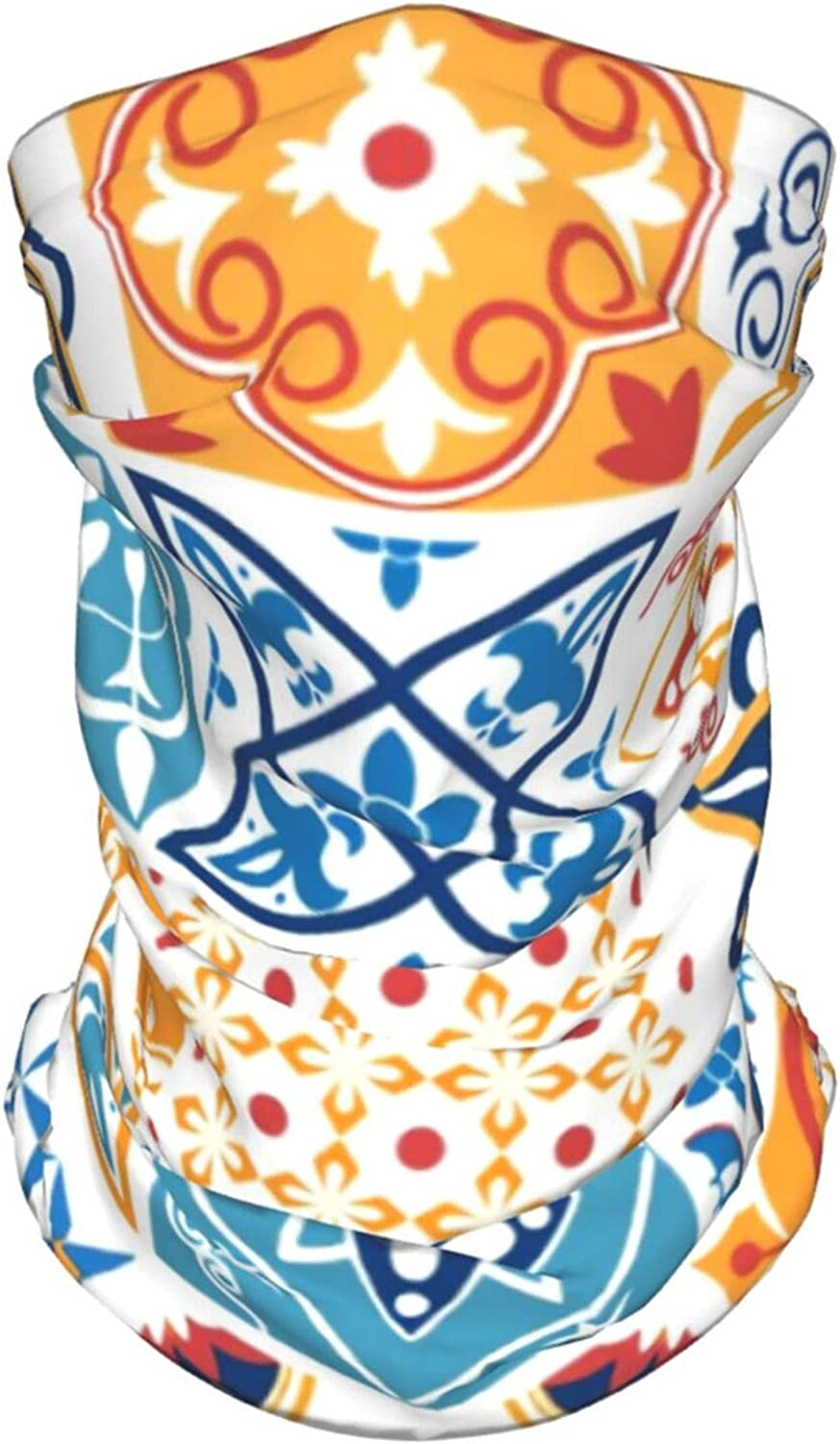 Portugal Seamless Pattern Neck Gaiter Multipurpose Headwear Ice Silk Mask Scarf Summer Cool Breathable Outdoor Sport 4 Pcs