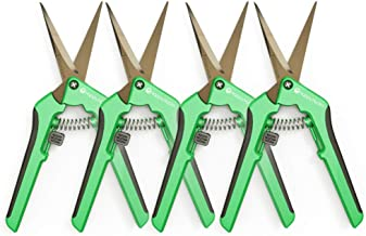 Happy Hydro - Trimming Scissors - Straight Tip - Titanium Coated Blades with Spring-Loaded Comfort Grip Handles - 4 Pack