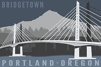 Portland, Oregon - Tilikum Crossing Bridge - Bridgetown (9x12 Fine Art Print, Home Wall Decor Artwork Poster)