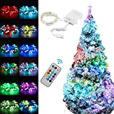 SFRMXS Fairy String Lights, 16.4FT 50LED 12 Modes 16 Colors RGB Copper Wire String Lamp USB Powered Indoor Light for Christmas Tree, Idea Decoration for Wedding, New Year Day Party