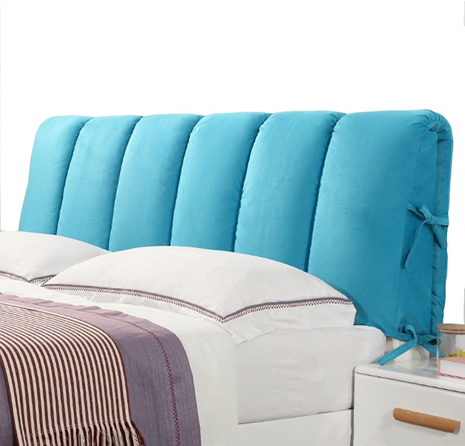 WENZHE Upholstered Fabric Headboard Bedside Cushion Pads Cover Bed Wedges Backrest Waist Pad Cloth Washable Soft Case Bed Cover Multifunction, Have A Headboard, 4 colors, 10 Sizes
