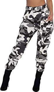 Women's Loose Camouflage Hip Hop Harem Cargo Pants 5XXL Belted Casual Camo Swaggy Leggings Pantsuits NO Belt