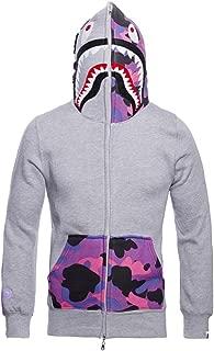 Mens Hoodies Sweatshirt Fashion Casual Coat Outdoor Hip-Hop Funny Tops (Large, Purple-Pocket)