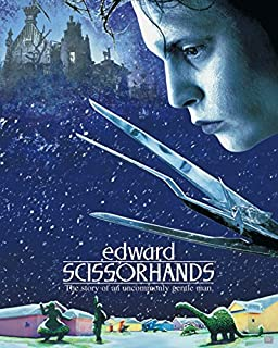Beyond The Wall Edward Scissorhands Movie Score (Johnny Depp, Tim Burton) Cult Classic Movie Film Poster Print (16X20 UNFRAMED Poster)
