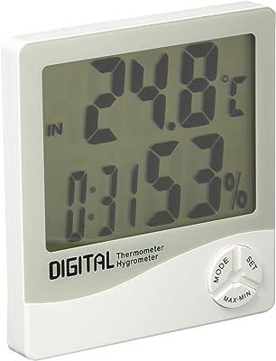 エンペックス気象計 温度計・湿度計 ホワイト 約10.6×9.8×2.3cm