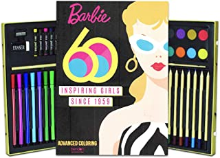 Bendon Publishing Barbie Coloring Book for Adults Relaxation Set ~ Advanced Barbie Coloring Book Set Featuring Barbie's Iconic Looks Through The Years with Deluxe Art Set (Barbie Coloring Books)