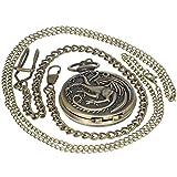 Bronze Antike Hogwarts Schule The Legend of Zelda Kleine Prinz Game of Thrones Assassins Creed Taschenuhr Männer Frauen Geschenk Pocket Watch