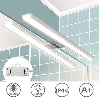 Wowatt Lampara de Espejo Baño IP44, Aplique Espejo Baño 8W