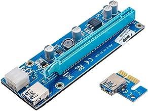 Akyga AK-CA-64 Riser - Adaptador PCI-E (16 Puertos USB 3.0, 55 cm)