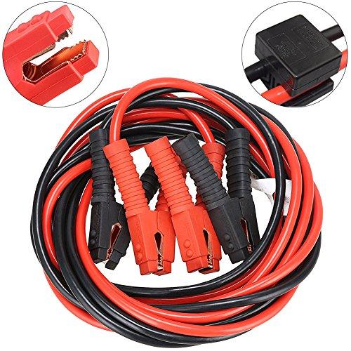 Cables de Pinzas Arranque de Alta Potencia Múltiples Protección Para 12V 25 mm² Arrancador de Coche 1200Amp de 2 x 6M alimentación batería de alta resistenc