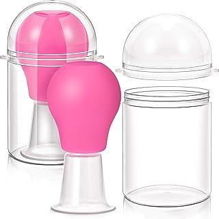 2 Pieces Nipple Sucker Nipple Aspirator Puller for Nipple Retraction and Breastfeeding Flat Inverted Nipples (Pink)