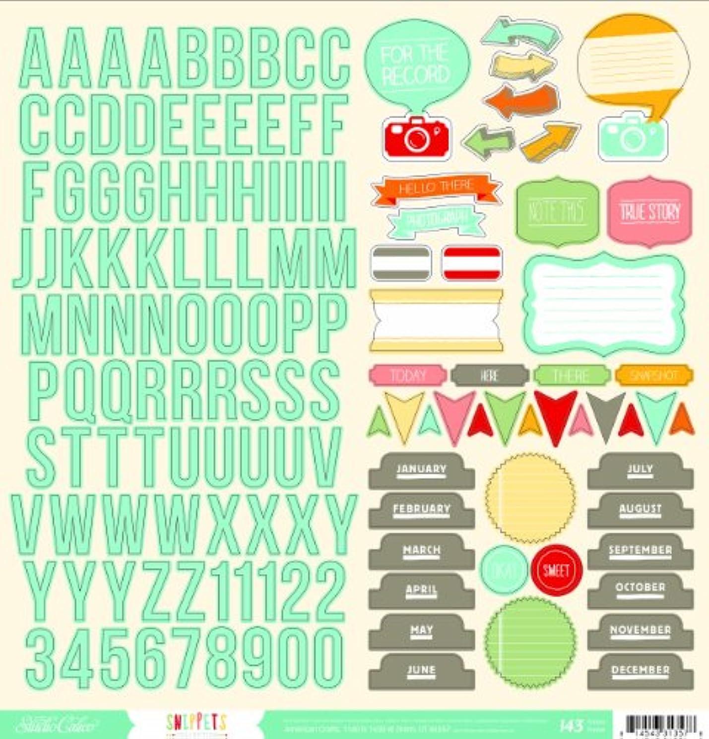 Studio Calico Snippets Decorative Sticker, 12 by 12-Inch