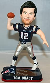Forever Collectibles Tom Brady New England Patriots NFL 2014 Springy Logo Bobblehead Figurine