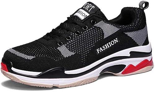 Herren Turnschuhe, Sommer Fliegende Gewebte, Atmungsaktive Sportschuhe, Weißliche Harajuku Schuhe, Koreanische Version Trend Paare Laufschuhe (Farbe   EIN, Größe   36) (Farbe   On, Größe   43)