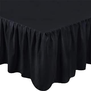 Utopia Bedding Full Ruffle Bed Skirt,16 Inch Drop (Black)