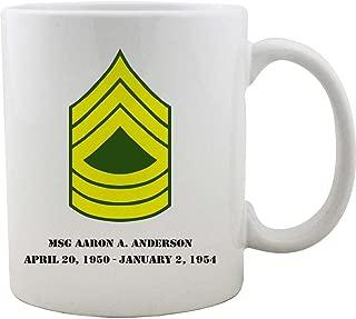 Army Master Sergeant Rank Coffee Mug