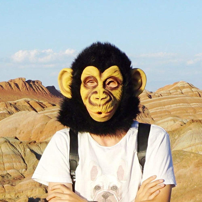 todos los bienes son especiales Circlefly Halloween Animal Gorila Gorila Gorila látex másCochea Grande Boca Mono Peluca  edición limitada