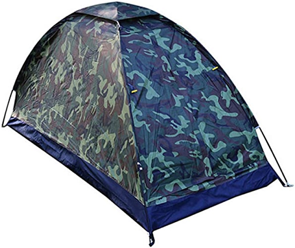 BUYGLI Tent Unique Camo Camping Tente en Plein Air Anti-Moustique Tente Pliable Portable Camping Tente Simple Couche Ultralight Tent