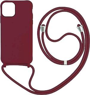 XCYYOO Coque Compatible avec iPhone 12/12 Pro 6.1,Collier pour Étui Colliers de cellulaire Corde Silicone avec Cordon Case...