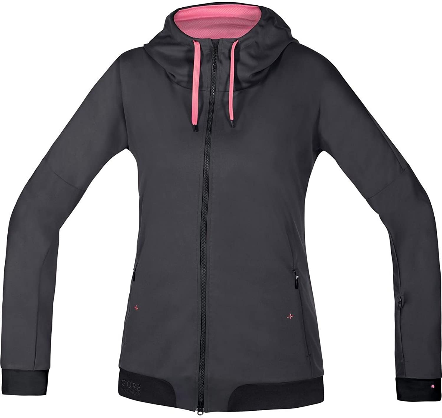 Gore Bike WEAR Women's Warm Soft Shell Hooded Mountainbike Jacket, Gore Windstopper, PowerTrail Lady WS SO Hoody, Size 38, Jazzy Pink Giro Pink, SWHFLO