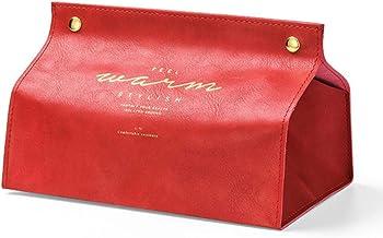 Miwaimao Boîte à mouchoirs en Cuir boîte de Rangement Maison créative Papier de Soie Porte-mouchoirs Voiture Table Basse S...
