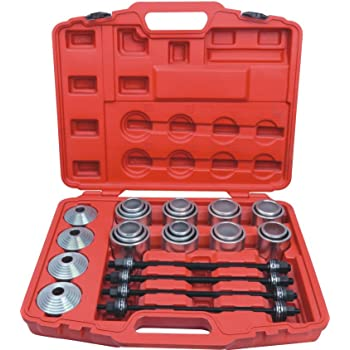 TRIL GEAR 27pcs Universal Press and Pull Sleeve Kit Manual Bushing Installation Removal Set Bearing Seal Bush Remove Install Insertion Sleeve Tool w//Case