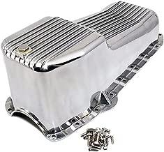 SBC PRE-79 Polished Aluminum Finned Oil Pan Kit Bolts Plug Fits SB Chevy 327 350