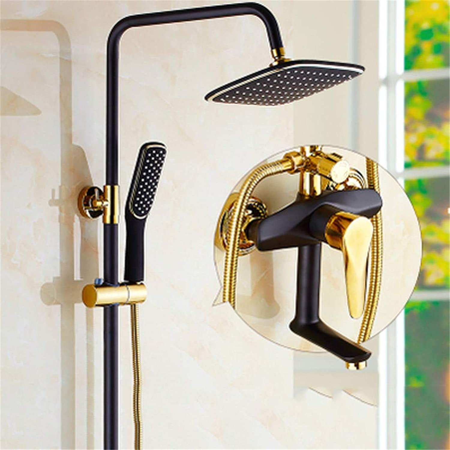STAZSX-Faucet Brass multi-function shower head shower set, style 2