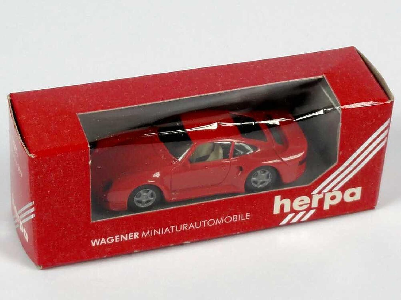 Herpa 2501 Porsche 959 rot (rote Sichtfenster-Verpackung) B00KTLQFNQ Billiger als der Preis    Schön und charmant