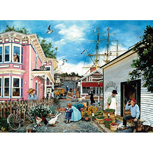 GuDoQi Puzzle 1000 Piezas Adultos Rompecabezas Wharf Village para Infantiles Adolescentes…