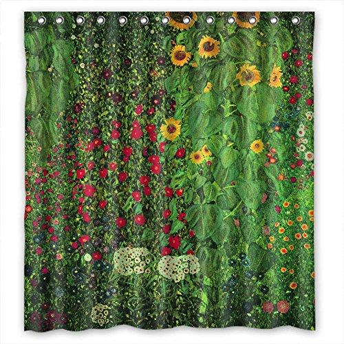 Comeciti The Gustav Klimt Duschvorhänge aus Polyester, Breite x Höhe: 180 x 180 cm, Dekoration, Geschenk für Ehemann, Kunstwerk Mutter Vater