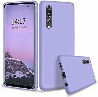 MUTOUREN Huawei P20 Pro Funda Silicona Líquido Delgado TPU Gel Goma Cover Case Full Protección Anti-Caída Flexible Carcasa Compatible con Huawei P20 Pro - Morado