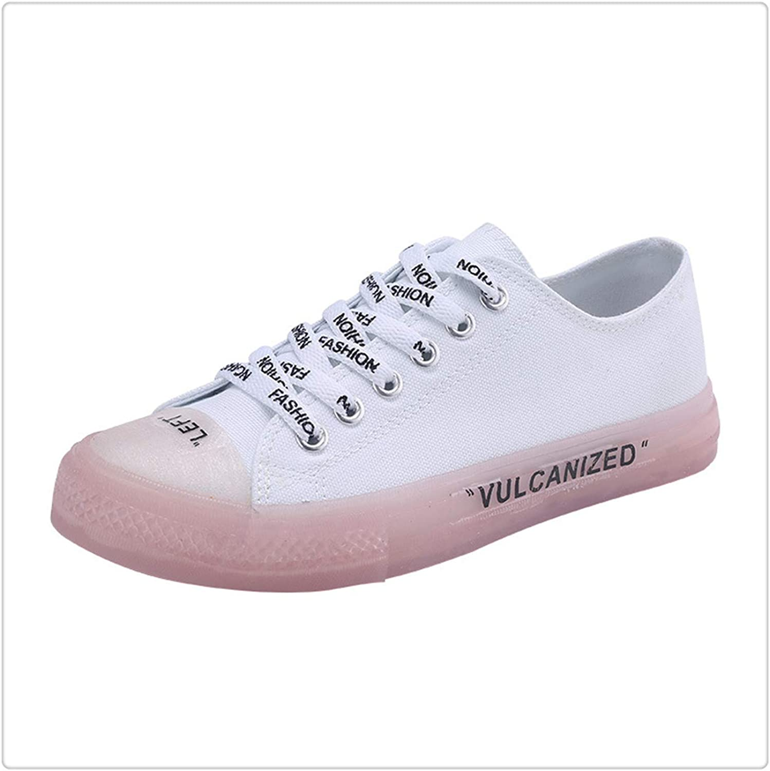 QUGKOP& Crystal Canvas shoes Transparent Women Vulcanize shoes Fashion Sneakers shoes