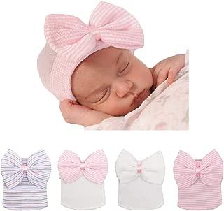 Newborn Hat Soft Turban Baby Girl Big Bow Knot Cap