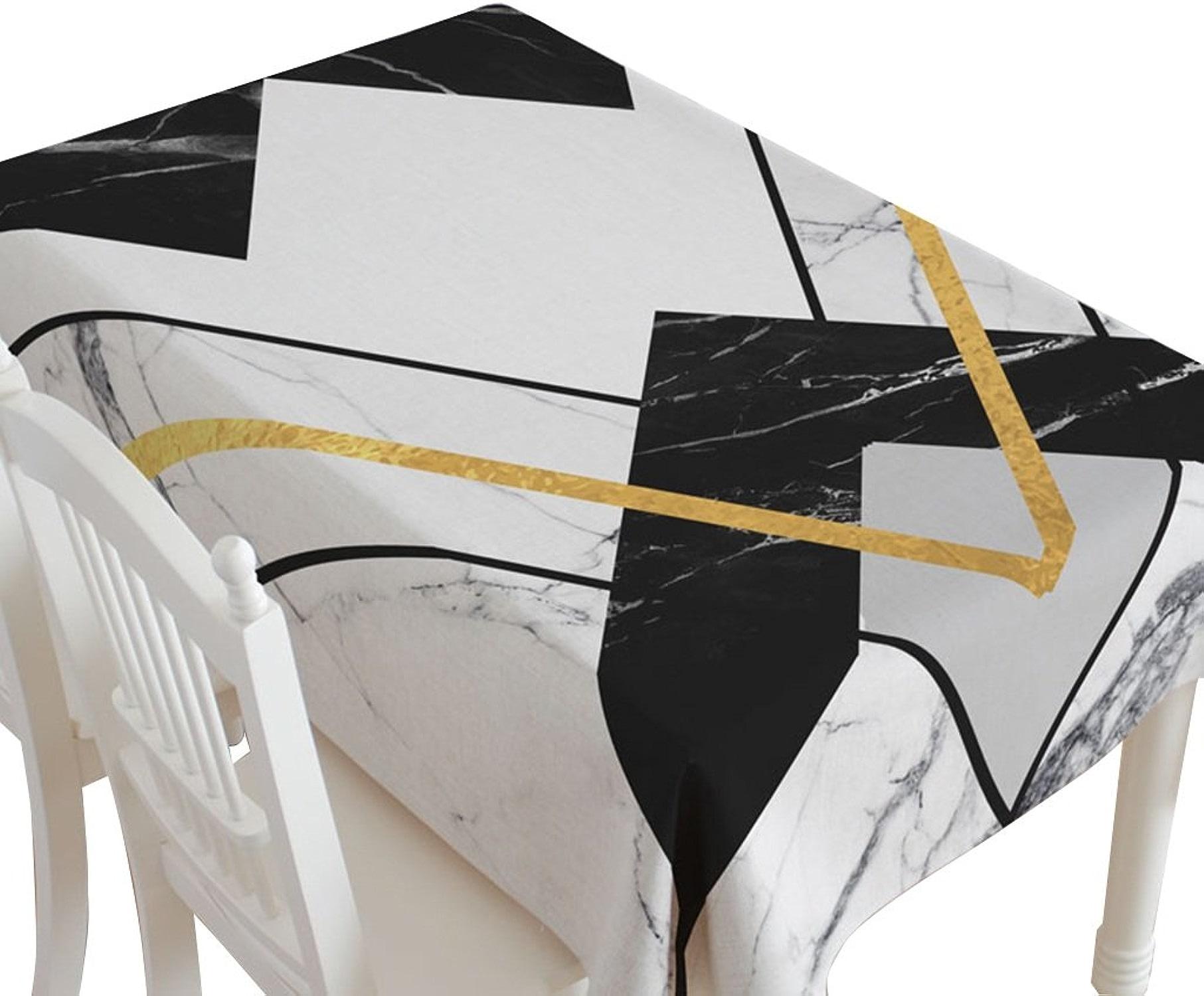 XZGang Nappe de cuisine, Restaurant Tissu Art Coton Et Lin Nappe Creative Salon Rectangle Table voiturerée Table Basse Couverture Serviette 140-220 CM Nappe de table (Couleur   B, taille   140  200CM)