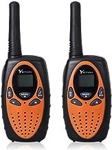 YETION Walkie Talkies 2 Pack Long Range Distance 2 Way Radio 22 Channel UHF Built-in Microphone Walkies Talky For Kids(Orange)
