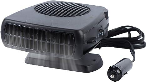 Haiabei Portable Car Heater Fan,Plug-in Anti-Fog 150W 12V Car Fan Windshield Defroster Automobile Heater Warmer Vehicle Demister Fast 2 in 1 Heating Cooling Dryer Auto 360-degree Rotation Heater Fan: image