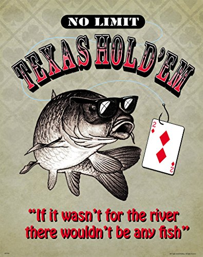 Texas Hold'em Poker Motivational Poster Art Print 11x14 Wall Decor Pictures