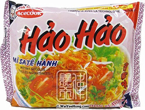 Vina Acecook, Hai Hao Mi Sate Hanh (Sate Onion Flavor Instant Noodle), 2.7 oz (Pack of 30)
