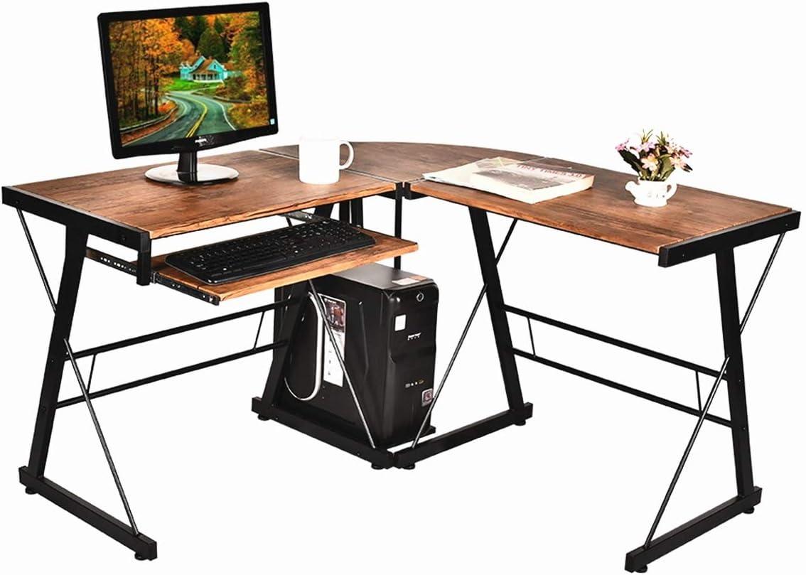 Grepatio L-Shaped Desk Home ※ラッピング ※ Office Corner - K 日本限定 Computer with