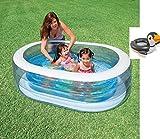 Bavaria Home Style Collection Planschbecken Badespaß Schwimmbad Pool Planschbecken Kinderpool Babypool Baby Pool Schwimmingpool Kinderplanschbecken - Oval - Piraten - ca. 163 x 107 x 46 cm