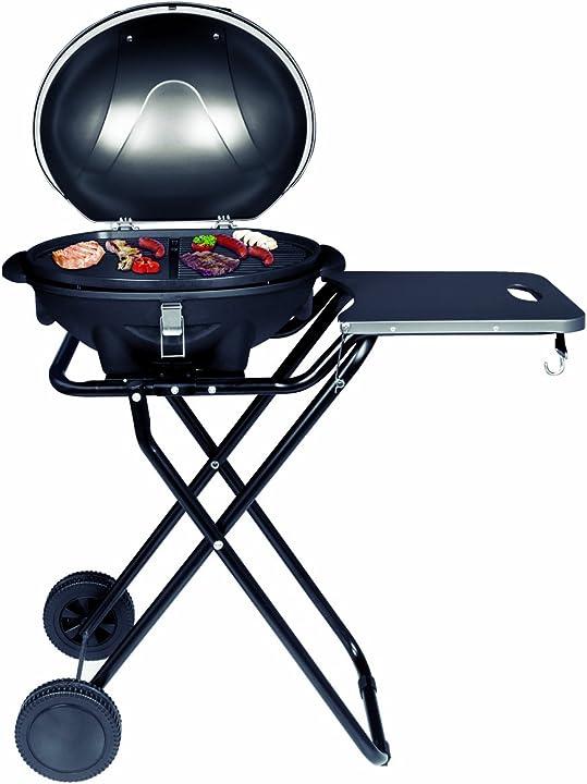 Barbecue braciere elettrico bbq [cofano amovibile con indicatore di temperatura suntec BBQ-9493