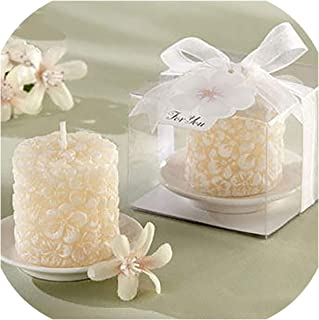 White Wedding Decoration Candles Craft Bougies DECoratives Wax Gift Candles Home Scented Candle Making Bougie Mariage,Osmanthus