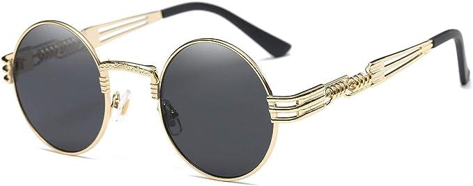 Steampunk Clothing, Fashion, Costumes Dollger John Lennon Round Sunglasses Steampunk Metal Frame  AT vintagedancer.com