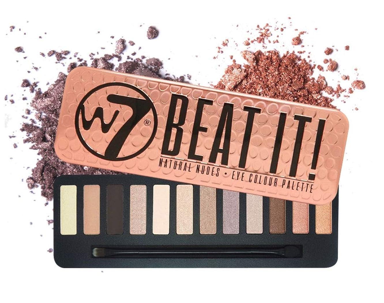 しおれたとんでもない社会W7 Beat It! Eye Colour Palette 英国感性ビューティーブランド,実用的なデイリーメイクが可能なアイシャドウ、内蔵ブラシ含む(海外直送品)