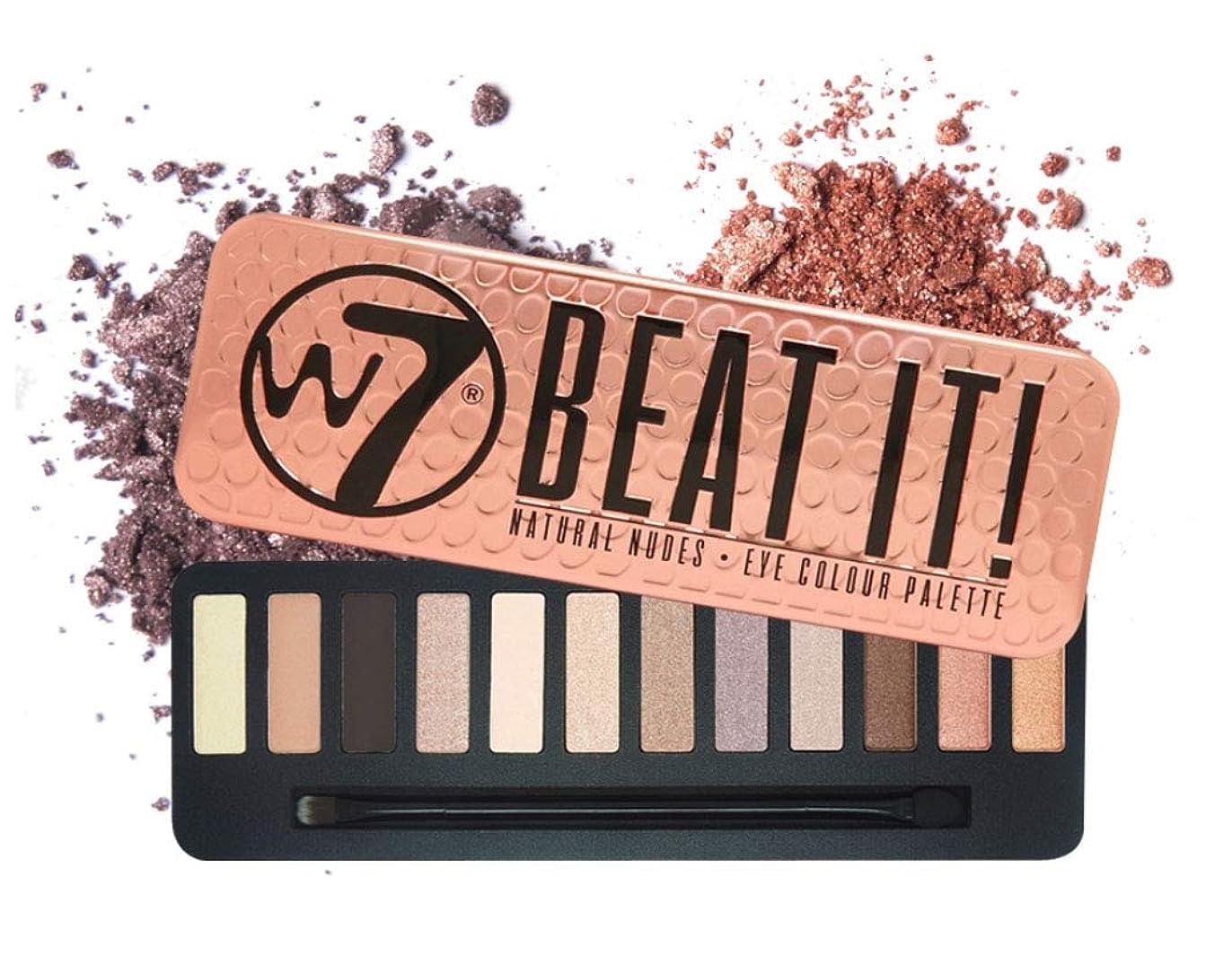 変換する記者鹿W7 Beat It! Eye Colour Palette 英国感性ビューティーブランド,実用的なデイリーメイクが可能なアイシャドウ、内蔵ブラシ含む(海外直送品)