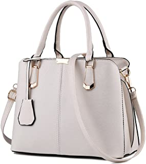 Pahajim women handbags PU leather top handle satchel tote purse shoulder bags